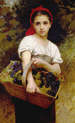 Vendangeuse Art Print by Adolphe William Bouguereau