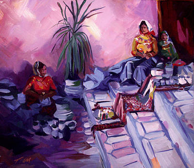 Painting - Venders At Copper Canyon by Nancy Griswold