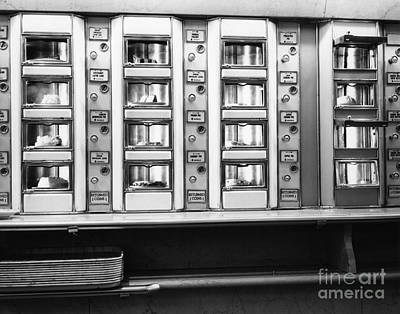 Window Display 1940s Photograph - Vending Machines In An Automat, C. 1930s by H. Armstrong Roberts/ClassicStock