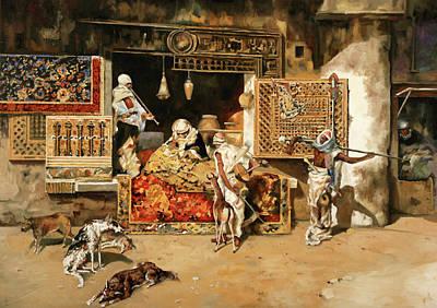 Copy Painting - Vendita Di Tappeti by Guido Borelli