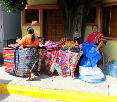 Photograph - Vendors San Juan Del Sur by Randall Weidner