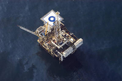 Veneco Oil Platform Off The Gaviota Art Print