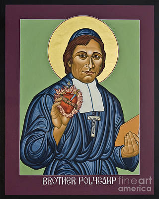 Painting - Venerable Br. Polycarp - Hippolyte Gondre - Lwply by Lewis Williams OFS