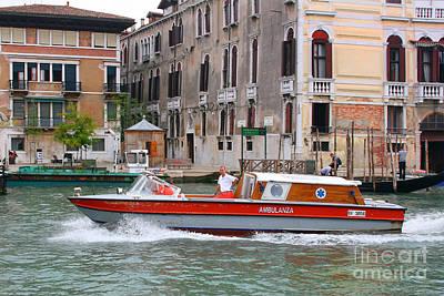 Photograph - Venetian Ambulance by Mariarosa Rockefeller