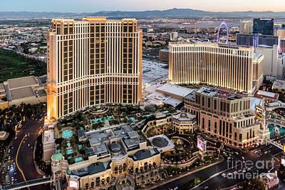 Venetian And Palazzo Hotels, Las Vegas Art Print