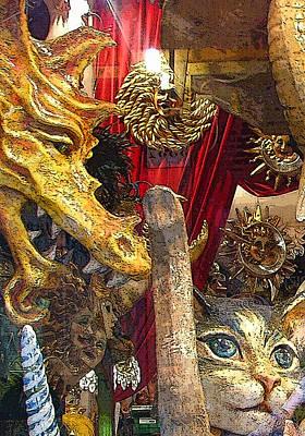 Elephants Digital Art - Venetian Animal Masks by Mindy Newman