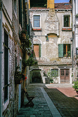 Photograph - Venetian Back Street by Christopher Rees