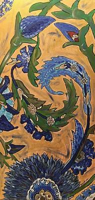 Painting - Venetian Blue Tile by Dorothy Visker