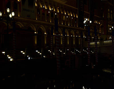 Mellow Yellow - Venetian Canal at Night by Pat Turner