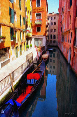 Reflected Digital Art - Venetian Canal by Jeff Kolker