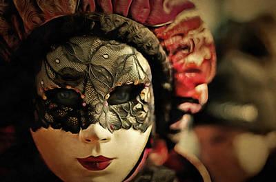 Mixed Media - Venetian Carnival Mask Art by Wall Art Prints