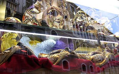 Photograph - Venetian Carnival Reflections by Karen J Shine