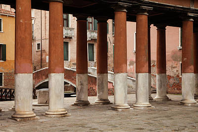 Photograph - Venetian Columns by Art Ferrier