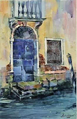 Venetian Doors Painting - Venetian Door by Annika Zalmover