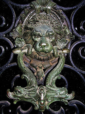 Photograph - Venetian Door Knocker by Mary Capriole