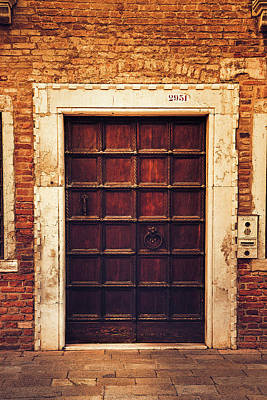 Photograph - Venetian Doorway by Andrew Soundarajan