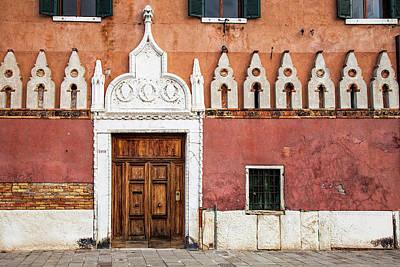 Wooden Houses Photograph - Venetian Entrance by Andrew Soundarajan