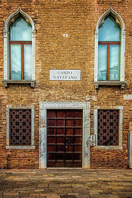 Door Photograph - Venetian Facade by Andrew Soundarajan