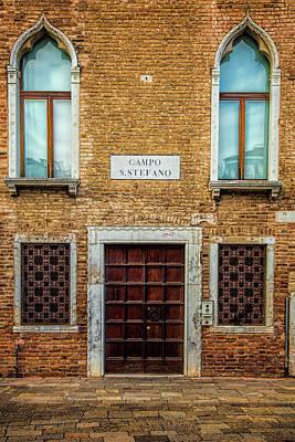 Wooden Houses Photograph - Venetian Facade by Andrew Soundarajan