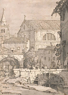 Italian Landscapes Drawing - Venetian Fantasy  by Canaletto