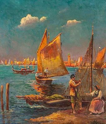 Farmhouse - Venetian Fisherman by Artistic Rifki