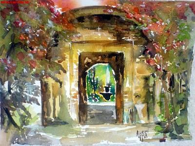 Painting - Venetian Gardens by Aingeal Rose