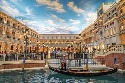 Photograph - Venetian Gondola by Framing Places