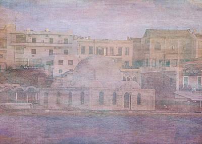 Crete Digital Art - Venetian Harbour, Chania by Sarah Vernon