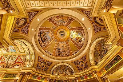 Photograph - Venetian Hotel Lobby Ceiling by Susan Candelario