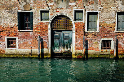 Venetian House On Canal Art Print