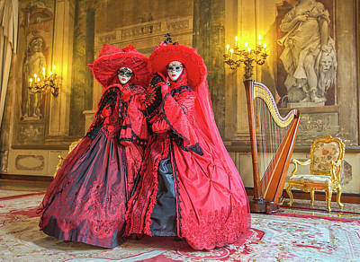 Photograph - Venetian Ladies In The Palace by Cheryl Strahl