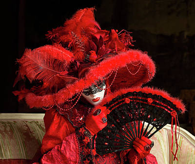 Photograph - Venetian Lady In Red I  by Cheryl Strahl
