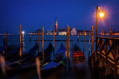 Photograph - Venetian Lagoon At Twilight by Andrew Soundarajan