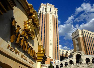 Photograph - Venetian Las Vegas by David Lee Thompson