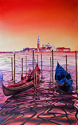 Painting - Venetian Lights 2 by Michel Angelo Rossi