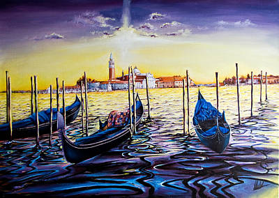 Painting - Venetian Lights 6 by Michel Angelo Rossi