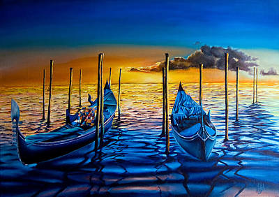 Painting - Venetian Lights 7 by Michel Angelo Rossi