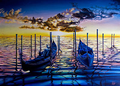 Painting - Venetian Lights 8  by Michel Angelo Rossi