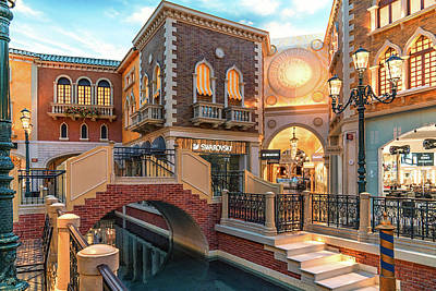 Photograph - Venetian Mall by Framing Places