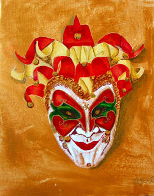 Painting - Venetian Mask 1 by Richard Le Page