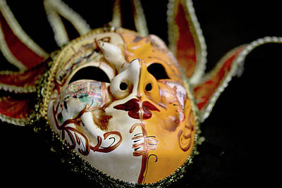 Photograph - Venetian Mask 1 by Steve Purnell