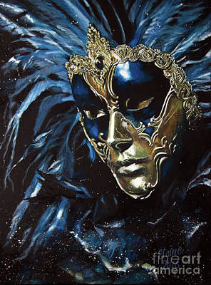 Mardi Gras Painting - Venetian Mask 2 by Elaine Berger
