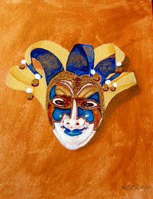 Painting - Venetian Mask 2 by Richard Le Page