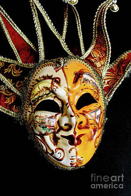 Photograph - Venetian Mask 2 by Steve Purnell
