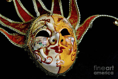 Photograph - Venetian Mask 4 by Steve Purnell