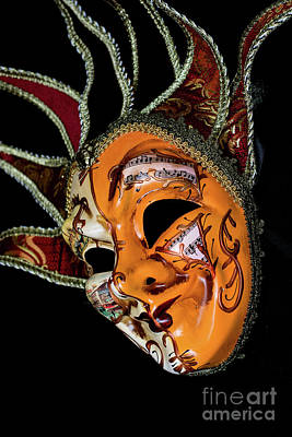 Photograph - Venetian Mask 5 by Steve Purnell