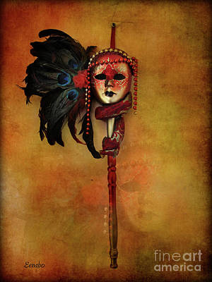 Photograph - Venetian Mask by Eena Bo
