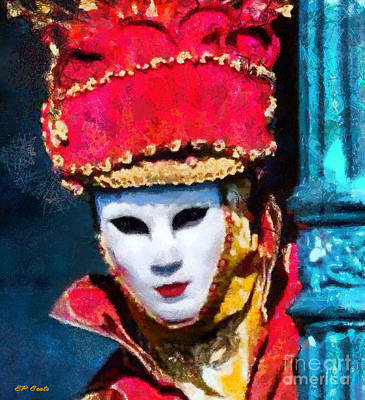 Painting - Venetian Mask by Elizabeth Coats