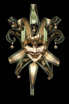 Cut-outs Photograph - Venetian Mask by Fabrizio Troiani