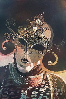 Painting - Venetian Mask- Italy by Ryan Fox
